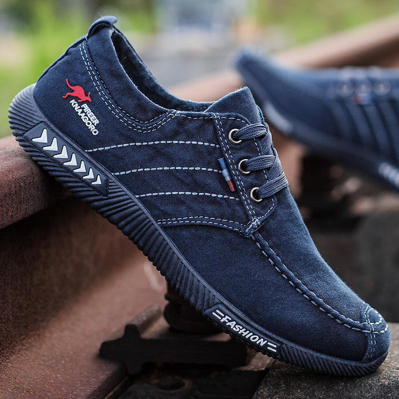Men's Shoes Sneakers Canvas Walking Casual High-Quality Denim Chaussure Outdoor Homme