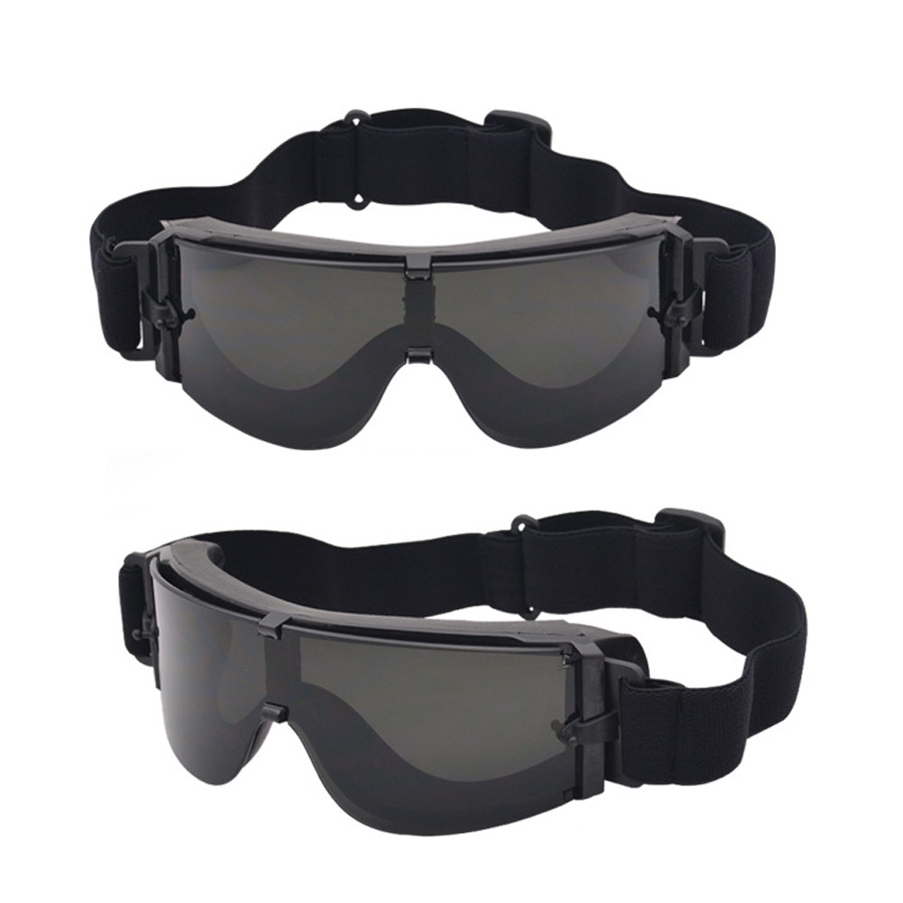 Tactical Glasses X800 Tactical Cycling Eyewear Game Safety Goggles Wind proof 3 Lens Goggles Sunglasses Men Military Sun glasses in Hiking Eyewears from Sports Entertainment