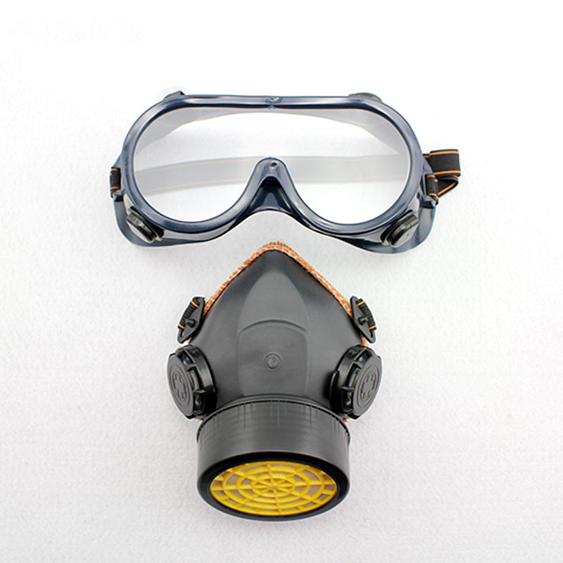 Gas masks protective mask respirator against painting dust storms formaldehyde pesticides spraying mask R5526 high quality dustproof gas masks blue silica gel protective mask dust pesticides industrial safety safety masks