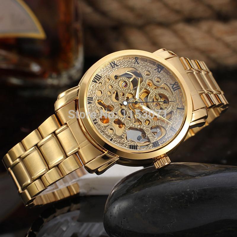 8f4fd35c998 WRG8047M4G2 novo luxo esqueleto Vencedor relógio Automático para os homens  fábrica de aço inoxidável pulseira frete grátis com caixa de presente em  Relógios ...