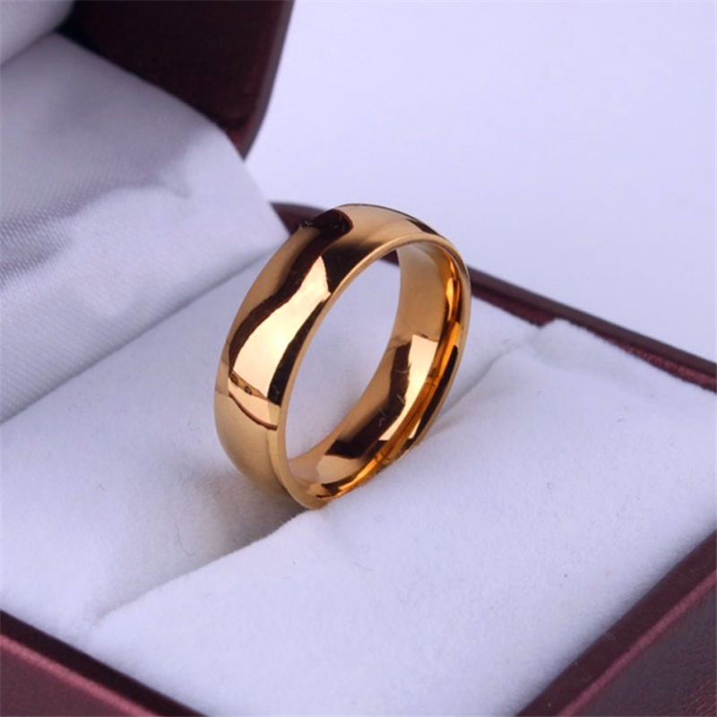 LOREDANA free shipping Light version gold color A smooth surface rings Stainless Steel men women jewelry wholesale lots(China)