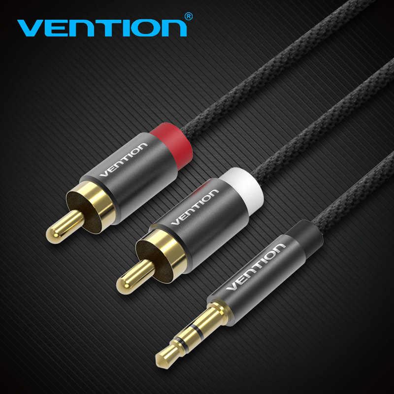 Vention kabel rca 2rca do 3.5 kabel audio 3.5mm Jack z męskiego na męskie 2 rca przewód aux do wzmacniacza telefon Edifer kino domowe dvd