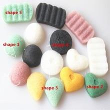 4pcs Face Cleanse Washing Sponge New Natural Konnyaku Facial Puff Konjac Exfoliator Cleansing Cosmetic Makeup Tool