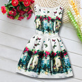 Girls Summer Dress Sleeveless White Butterfly Princess Deguisement 2017 New Girls Butterfly Dress Teenagers Girl Clothes