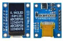 0.96 polegada 7 p i2c spi branco oled módulo de tela vertical ssd1107 drive ic 64*128