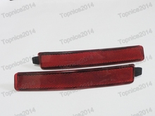 цена на 2Pcs/Pair Red Lens Bumper Reflector Tail Brake Lights LH & RH For CADILLAC SRX 2010-2016