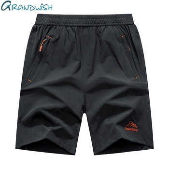 Grandwish Plus Size Shorts Men  Zipper Pocket Shorts
