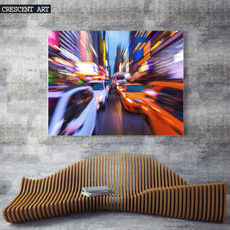 City Streets Wall Poster New York Picture Print Manhattan Streets Canvas Cab Taxi Photo Art Large Home Decor for Livingroom