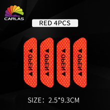 4 Pieces / Set of Car Self-adhesive Reflective Tape High Visibility Reflective Warning Tape For Van Car Traffic Sign