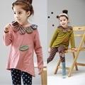 Primavera Otoño 2017 Fashion Girl Set Niños Que Arropan el sistema Para las niñas Trajes Bebé Ropa Establece Niñas Traje de Algodón 2 pcs