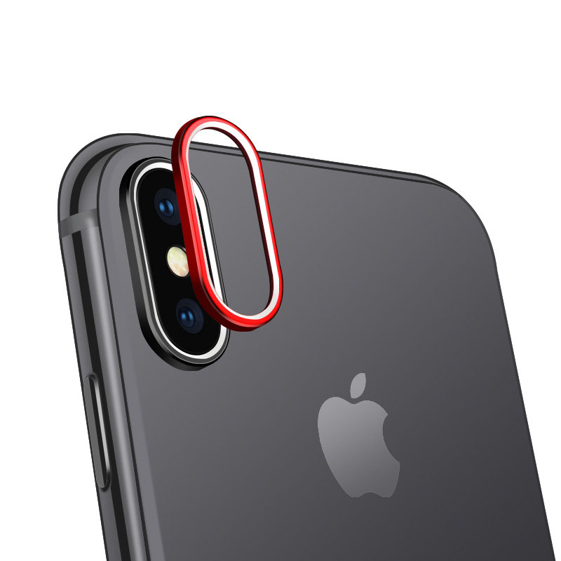 2pcs/lot Lens Protector Circle For iPhone X Back Camera Protective Ring Aluminum Alloy Dual Color