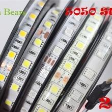 IP20/65 DC24V светодиодные полосы 5050 24v SMD 5 м 300led 60led/м белый/теплый белый/RGB гибкая светодиодная лента Водонепроницаемый Крытый decoartion
