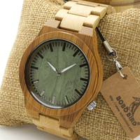 Bobo bird relógios dos homens relógio de pulso de madeira de bambu fantasma olhos madeira cinta brilho c-b22 analog watch com caixa de presente de bambu