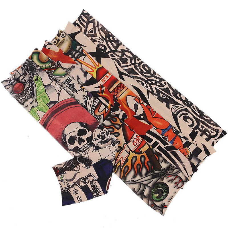 1 Pair Mix Styles Temporary Fake Slip Tattoo Arm Sleeves Body Art Arm Leg Stockings Drop Ship # Apparel Accessories Men's Accessories