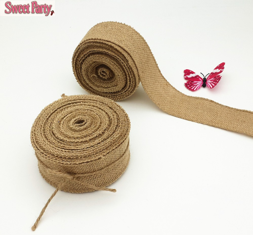 New 5cm x 10m hessian burlap burlap ribbon garland for What is burlap material