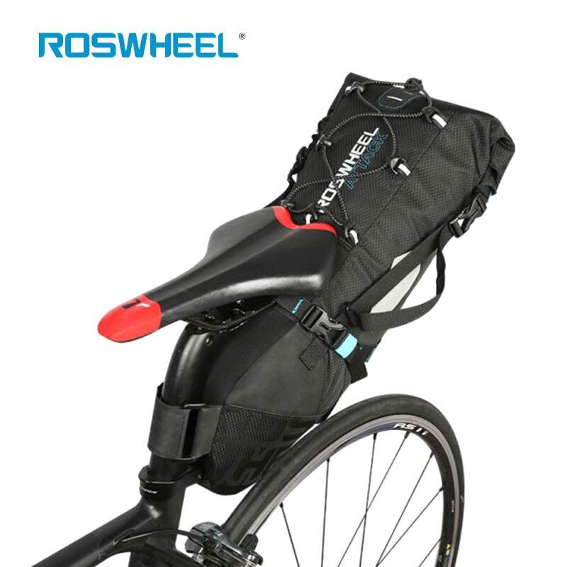 ROSWHEEL атаки 100 100% Водонепроницаемый седельная сумка для велосипеда MTB велосипеда сумка под седло колеса сумка рюкзак кемпинг Пеший Туризм ве...