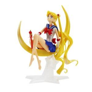 Image 2 - Figurine de dessin animé marin lune Tsukino en PVC 15cm/16cm, décoration de gâteau avec ailes, modèle de poupée, cadeaux pour filles