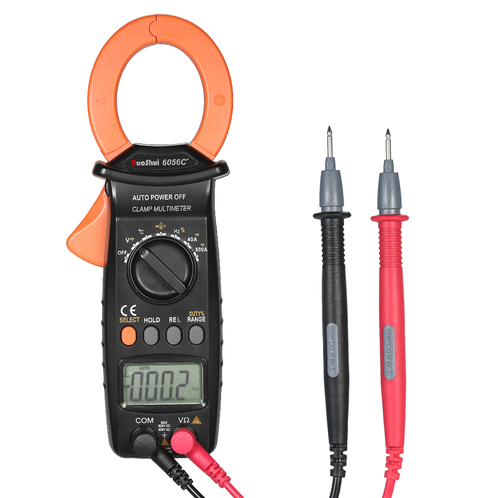 AC/DC Voltage Current meter Digital Clamp meter Multimeter Temperature Capacitance Resistance Frequency Diode Duty Cycle Tester my64 digital multimeter dmm frequency capacitance temperature professional meter tester w hfe test