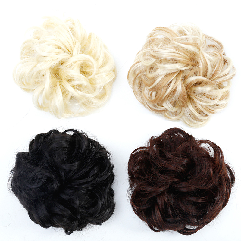 JINKAILI Synthetic Curly Chignon Hairpiece for Women Elastic Scrunchie Extensions Hair R ...