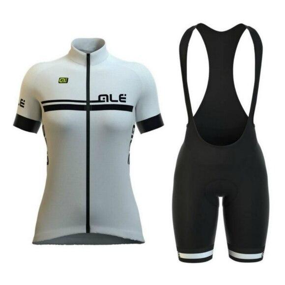 2018 ALE Pro Team Для женщин с короткими рукавами Vélo нагрудник Шорты набор велосипед одежды быстросохнущая велосипедов Лето Костюмы Maillot