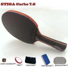 Quality Table tennis racket pat set Carbon 7.6/9.8 rubber 05/64+Blue sponge Hurricane 3,ping pong paddle Free Drop Shipping