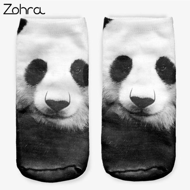 Зухра Лидер продаж Китай Panda 3D полная печать Для женщин Для мужчин Low Cut лодыжки носок прекрасный Sokker чулочно-носочные изделия носки