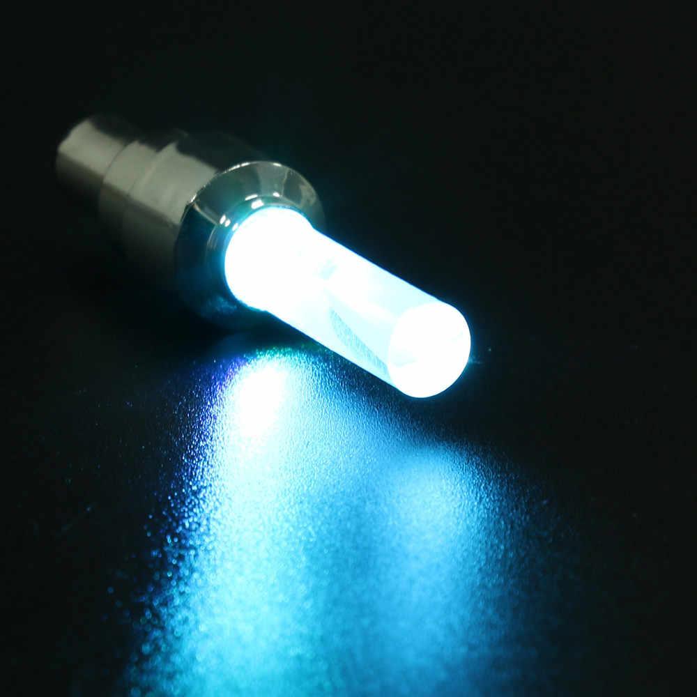 4pcs Bike Car Motor Wheel Tyre Tire Valve Cap LED Light Spoke Flashing Lamp Caps N# dropship