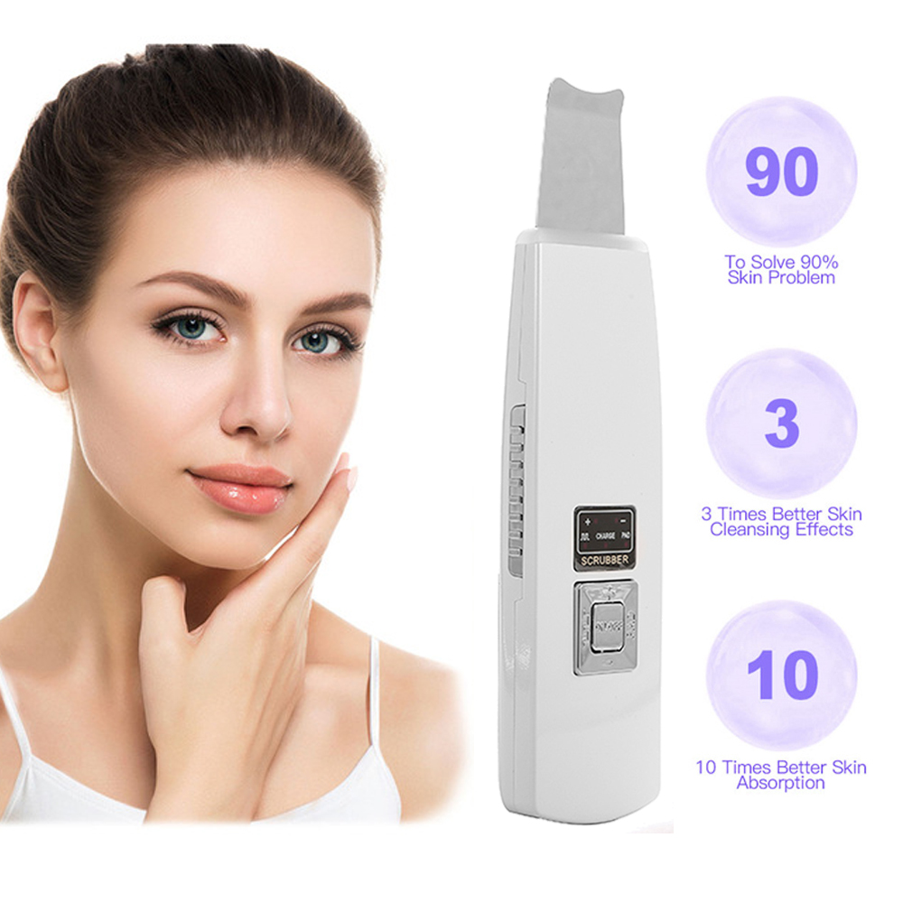 Ultrasonic Face Cleaning Skin Scrubber Ultrasonic Scrubber Cleaner Blackhead Removal Face Peeling Extractor Facial Skin CareUltrasonic Face Cleaning Skin Scrubber Ultrasonic Scrubber Cleaner Blackhead Removal Face Peeling Extractor Facial Skin Care