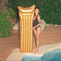 183cm Luxuary Gold Inflatable Pool Float Adult Swimming Ring For Children Summer Party Water Outdoor Toys Air Mattress Lounger