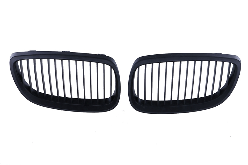 1 Pair Matte Black Front Kidney Grille Grill For BMW E92 Coupe E93 Convertible 328i 335i