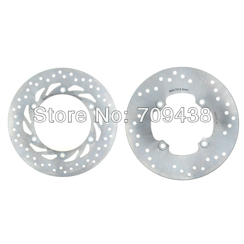 BIKINGBOY Round New Full Set Front Rear Brake Discs Rotors for Honda FJS 400 Silverwing/ABS 2009 SW-T 400 SW-W 400 C-ABS 2009- bikingboy new full set front rear brake discs rotors for yamaha yzf r1 2004 2005 2006 04 06 320mm 220mm