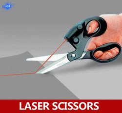High technology - laser guided scrapbooking sewing scissors for paper cutting , easy to cut a straight line
