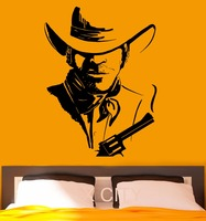 Cowboy Wall Stickers American Wild West Poster Decal Vinyl Cool Dorm Teen Design Home Interior Nursery