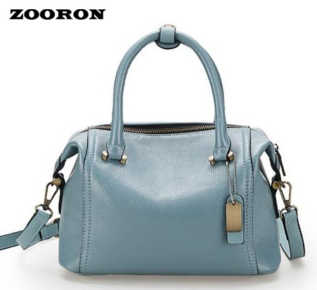 ZOORON The new spring and summer 2017 women leather Boston Bag Leather Handbag portable Shoulder Messenger Bag pillow woman in the summer of 2016 youth popular color patent leather crocodile pillow boston crossbody bag business mini pochette