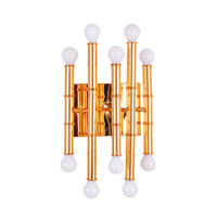 Gold Silver Creative Retro Metal Bamboo Wall Sconces E27 Modern Simple Aluminum Wall Lamp Hotel Lobby