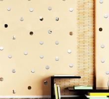New arrival Acrylic mirror wall stickers Circle DIY Art decor Fashion Silver gold color circular Home 3D decoration