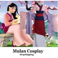 Princesa Mulan Traje Cosplay Vestido para o Dia Das Bruxas Traje Hanfu traje Chinês para Meninas Vestido de Festa XXS-XXXL
