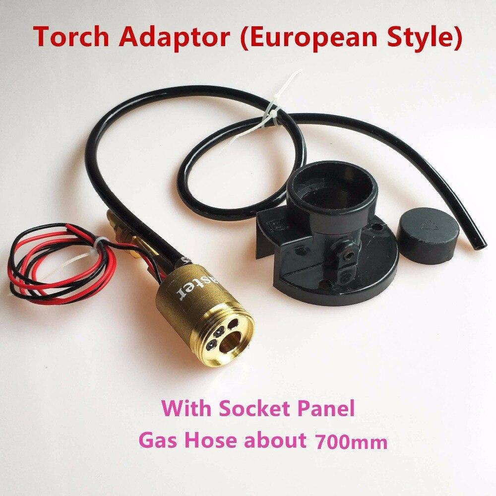CO2 MIG MAG Schweißplatte Euro-buchse Zentrale Stecker Conversion Adapter für Schweißgerät Drahtvorschub
