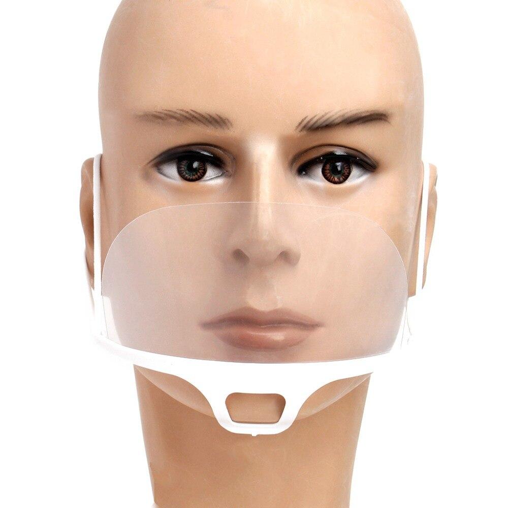 10 Pcs/1 Set de L'environnement De Tatouage Transparent En Plastique Visage Masque Maquillage Permanent Fournir Pour pour les Fournitures De Nettoyage #10B00028 #