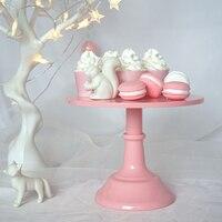 SWEETGO Baby Pink Fondant Cake Stand Cake Pops Wedding Table Decorating Tools Dessert Candy Bar 10inch