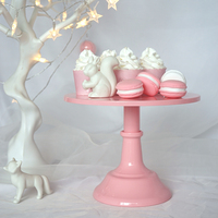 SWEETGO Baby Pink Fondant Cake Stand Cake Pops Wedding Table Decorating Tools Dessert Candy Bar 10inch
