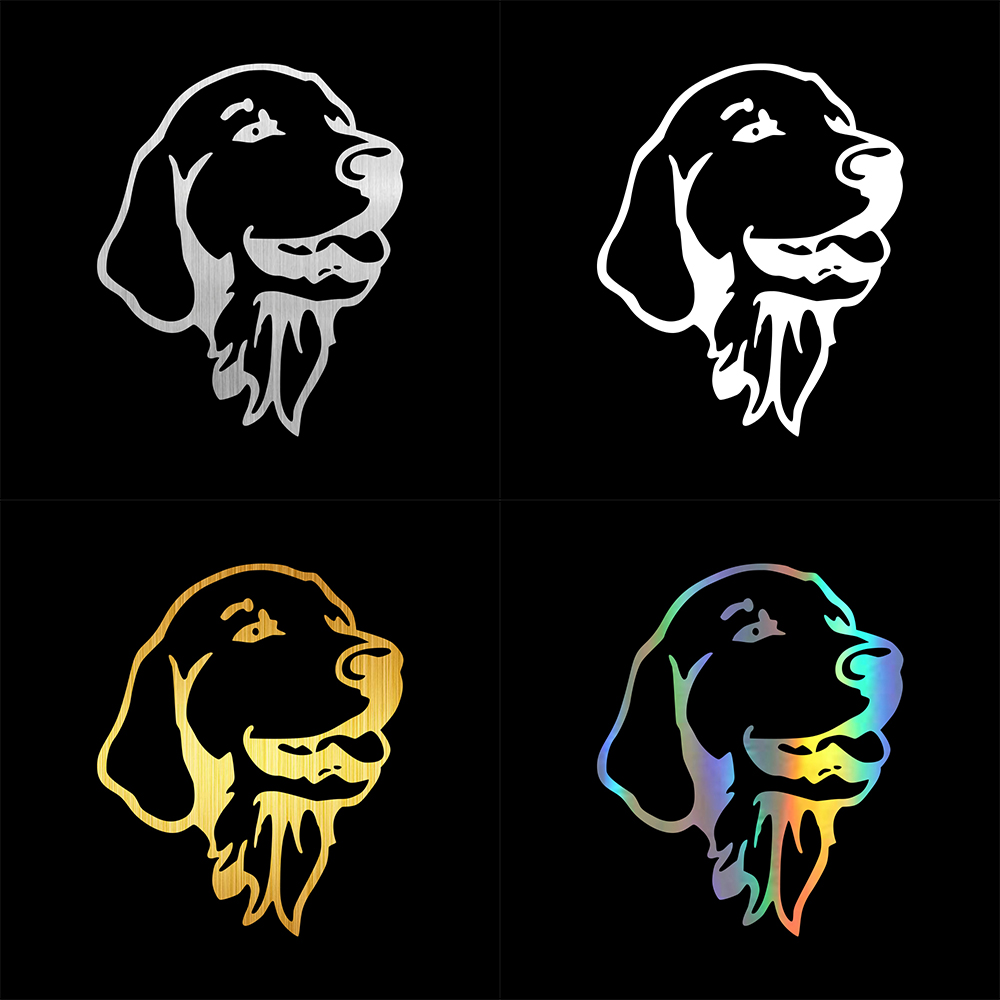Tancredy 2nd Half Price Golden Retriever Decals Car Bumper Stickers Car Styling Decoration Door Body Window Vinyl Stickers