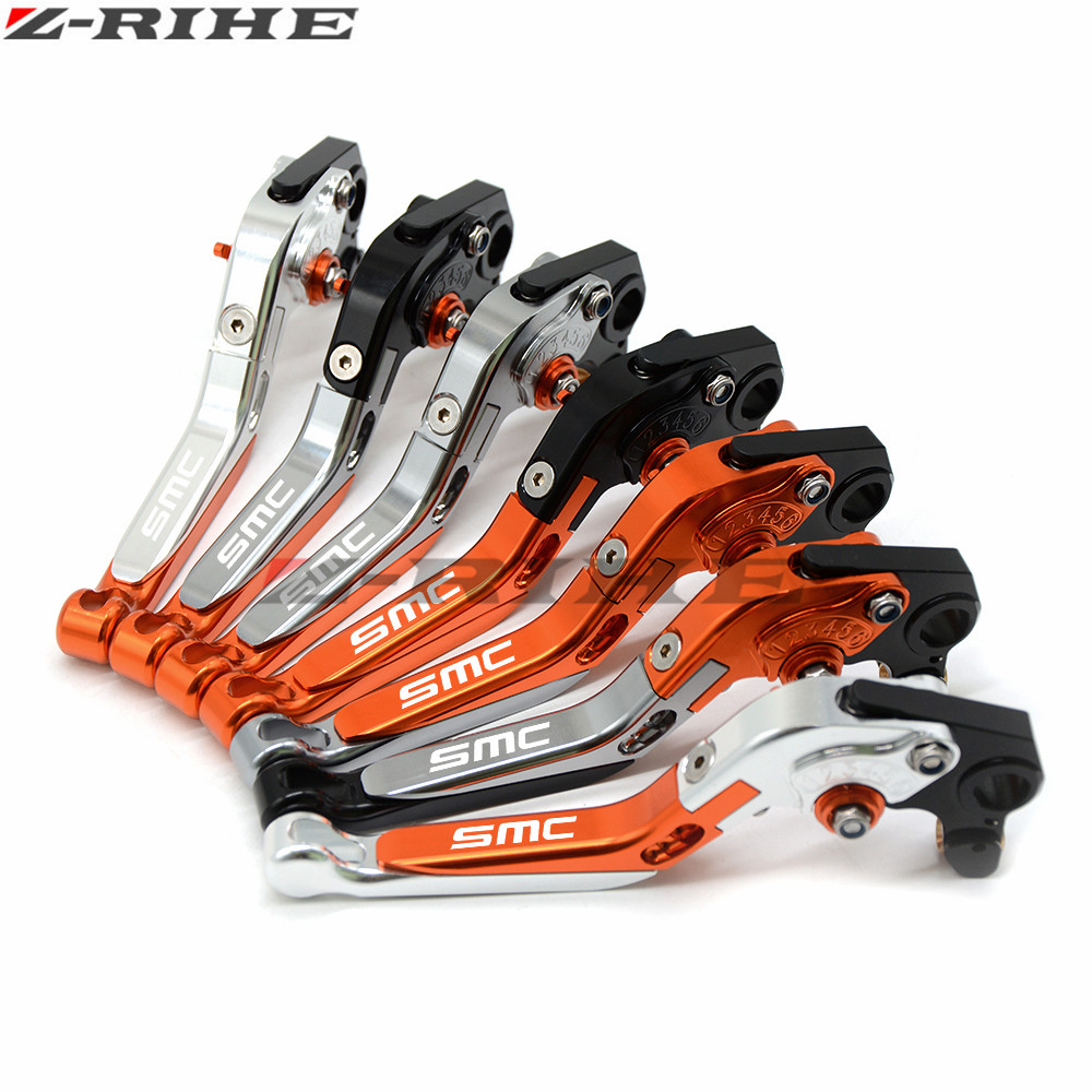 Adjustable Folding Extendable Brake Clutch Lever For KTM 690 SMC SMCR 690SMC SMC-R 14 15 16 WITH LOGO Free shipping Motorcycle