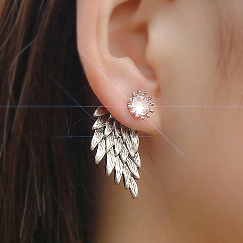 HTB1ElZWOFXXXXazXXXXq6xXFXXXC Women's Angel Wings Rhinestone Stud Earrings - 2 Colors
