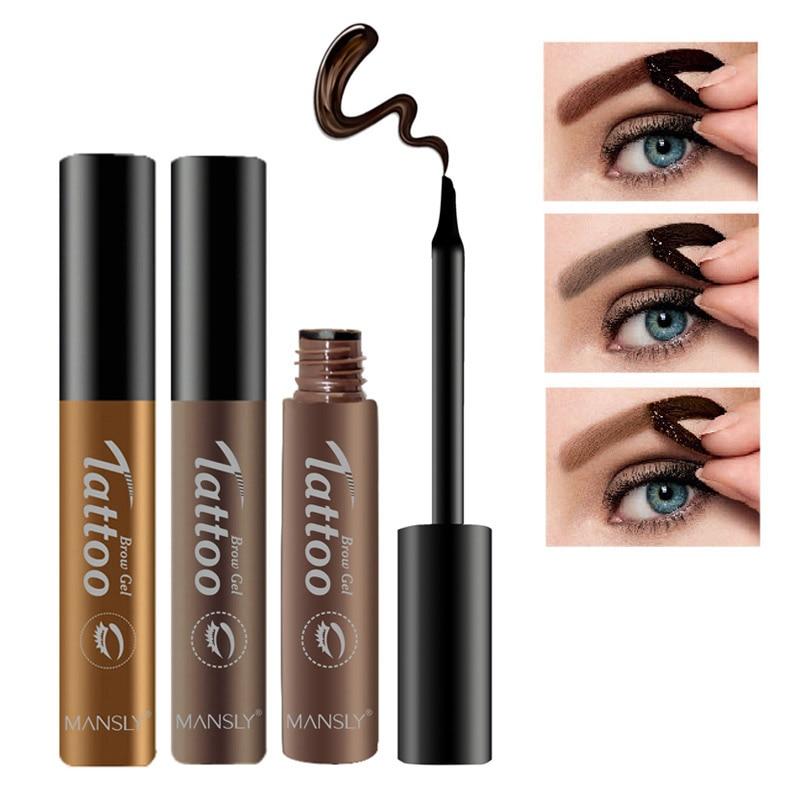 Brand waterproof tattoo eyebrow gel eyebrows tint black for Tattoo brow gel