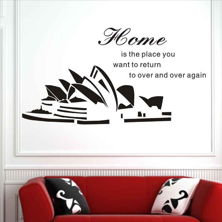 The Sydney opera wall map The study music training room wall decoration Dance protect wall act the role ofing wall paintings image