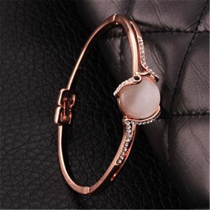 Браслет Дизайн для Для женщин Мода Сейф Пряжка Стиль изделия из розового золота Цвет ювелирные изделия Золотой Чешский drill43
