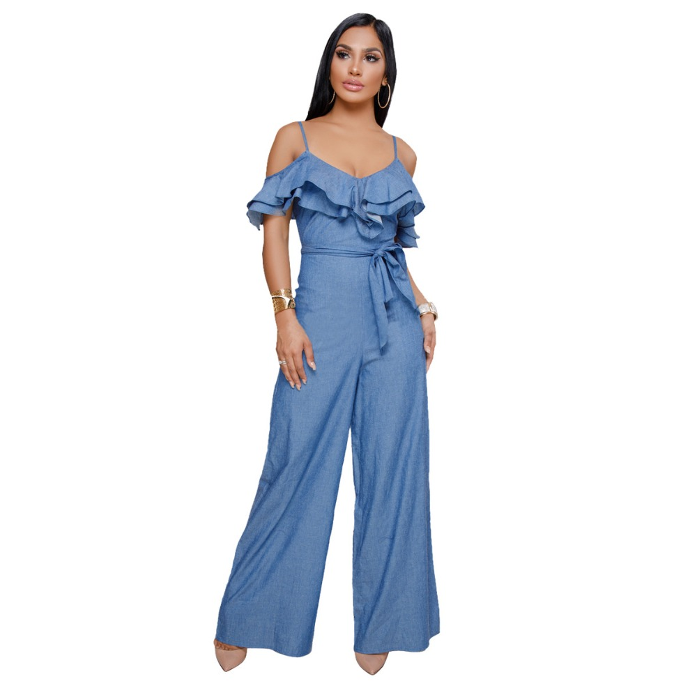 855498789f6d Buy jumpsuit jeans ruffle women and get free shipping on AliExpress.com