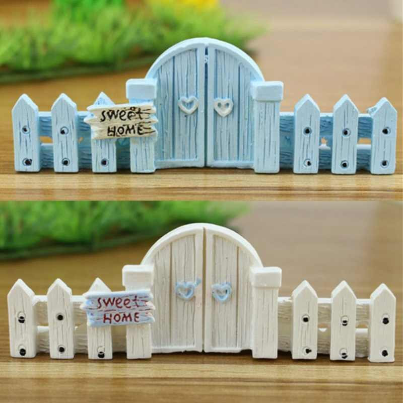 Micro-landscape Fence Railings Decorative Wooden Fence Ornament Diy Resin Design Craft Mini Fairy Garden Cottage Landscape