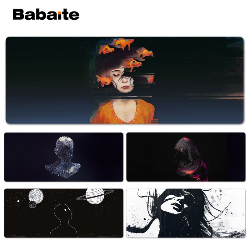 Babaite Cool New Art creation human Beautiful Anime Lockedge Mouse Mat Size for 30x90cm 40x90cm Speed Mouse Pad